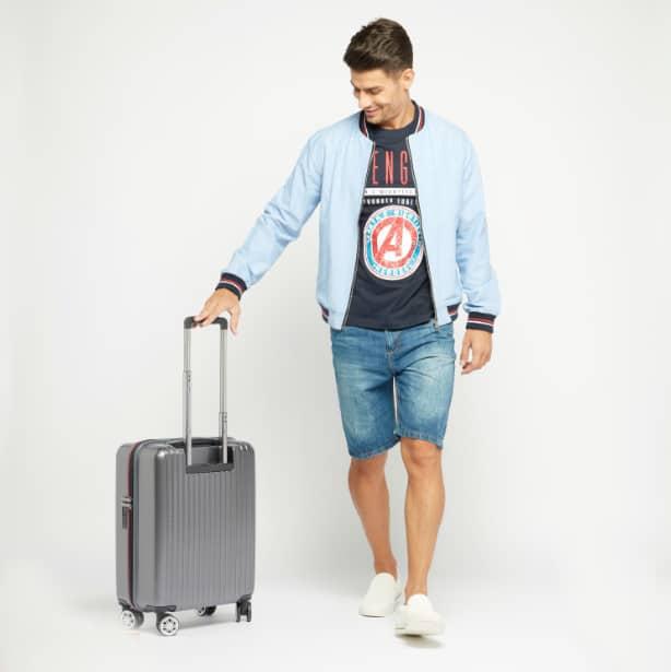 حقيبة سفر صلبة بارزة الملمس بمقبض قابل للسحب من دوتشيني