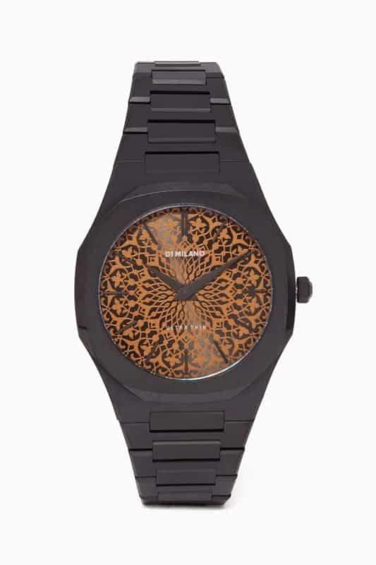 ساعة أُناس - دي1 ميلانو بولي كربونات أسود