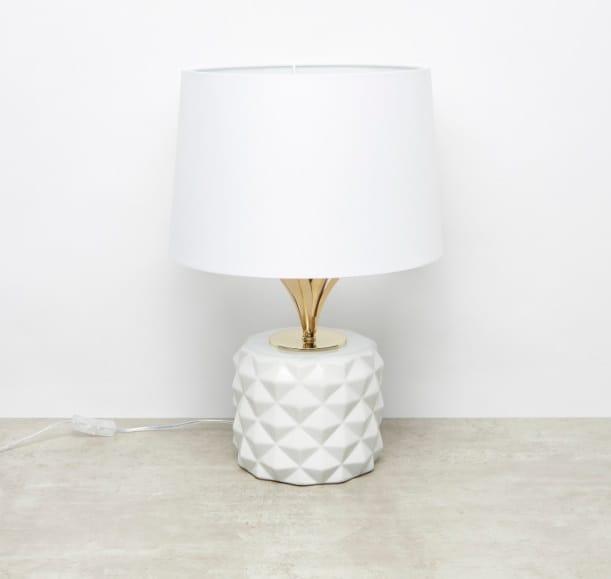 مصباح طاولة ميتاليك لامع - 40x50x50.8سم