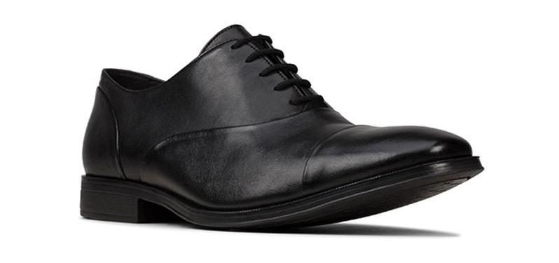Clarks Gilman Cap Formal Shoes Black