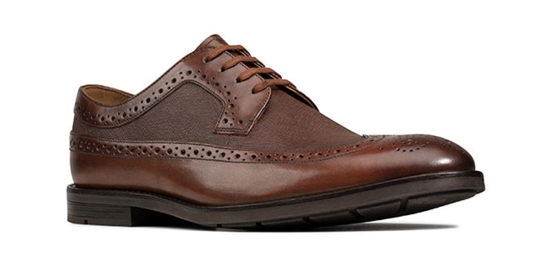 Ronnie Limit Leather Shoes Brown Clarks