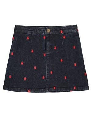 تنورة جينز مطرزة